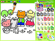 Hello Kitty da Colorare e Stampare Online